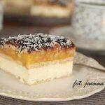 szybkie ciasto serowo – jabłkowe bez pieczenia