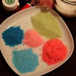 kolorowy cukier do dekoracji deserów