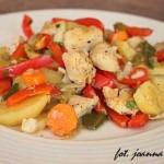 filety z morszczuka w warzywach