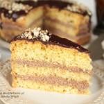 ciasto z kremem czekoladowo kawowym