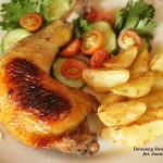 udka kurczaka z cytryną, imbirem i miodem