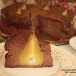 sernik mocno czekoladowy z gruszkami