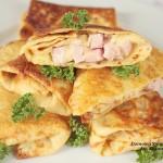 naleśniki z serem i szynką