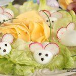 białe myszki na Wielkanocny stół