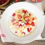 zupa mleczna z truskawkami