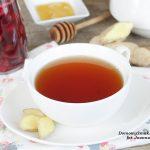 rozgrzewająca herbatka z imbirem i maliną