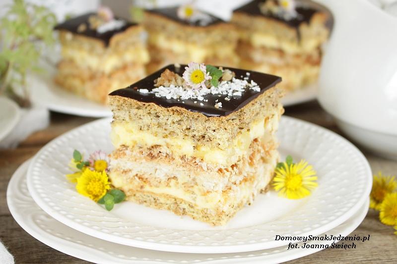 Ciasto Orzechowo Kokosowe Z Ananasem Domowy Smak Jedzenia Pl