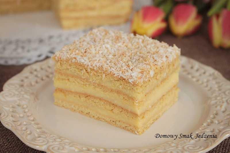 aniołek - komunijne ciasto z kremem waniliowym