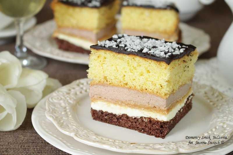 ciasto z odrobiną toffi
