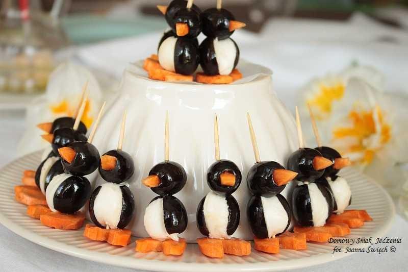 urocze pingwinki dekoracją nie tylko stołu komunijnego